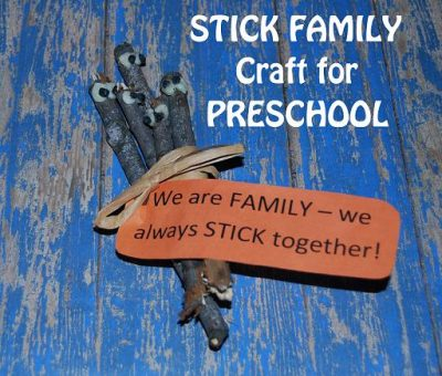 Stick Family Craft for Preschoolers