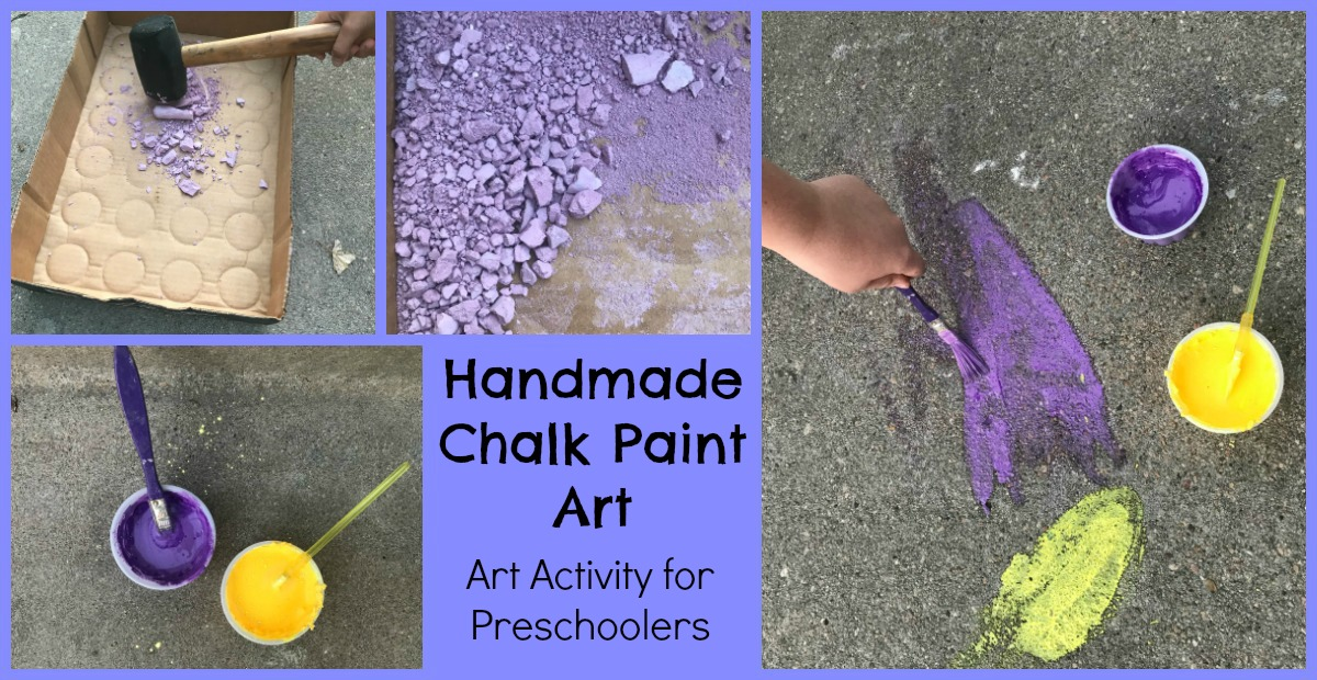 Homemade Chalk for Preschoolers
