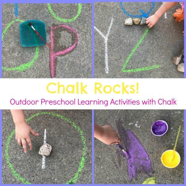 Chalk and Rock Activities for Preschool