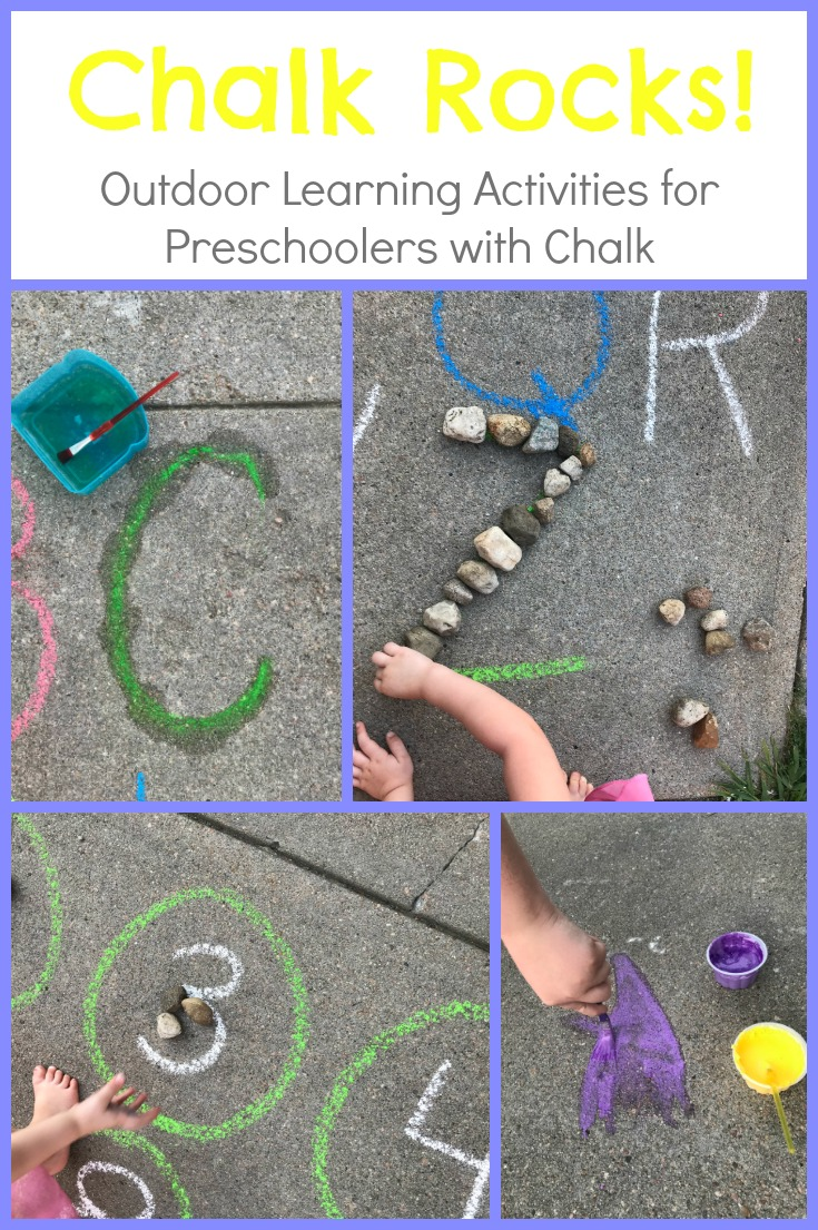 Easy Chalk And Rocks Activities For Preschoolers Outdoors Playful