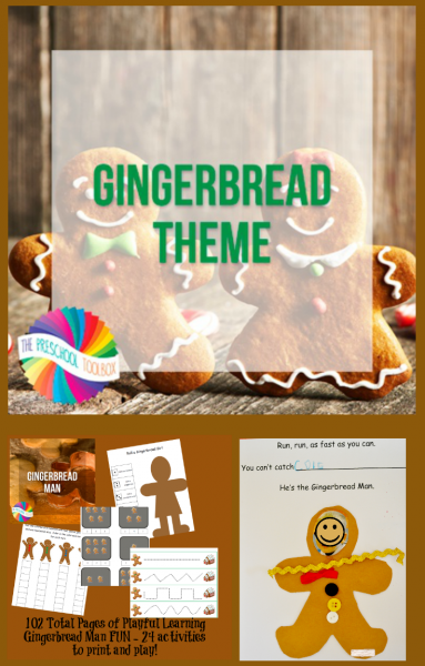 Gingerbread Man Theme for Preschool