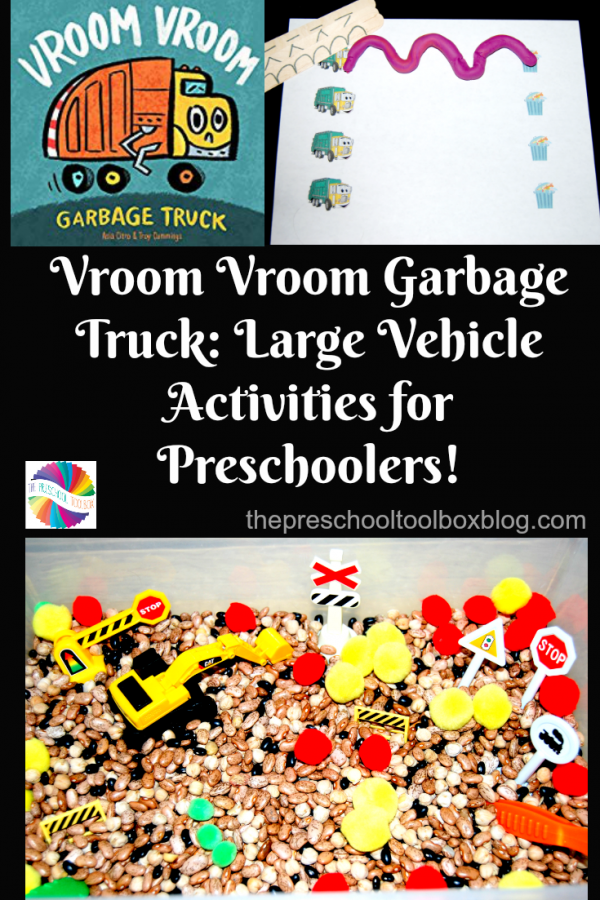 Vroom Vroom Garbage Truck: Large Vehicle Activities for Preschoolers