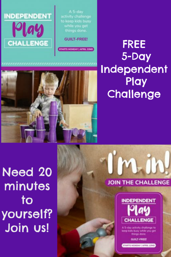 FREE 5-Day Independent Play Challenge from Hands On As We Grow