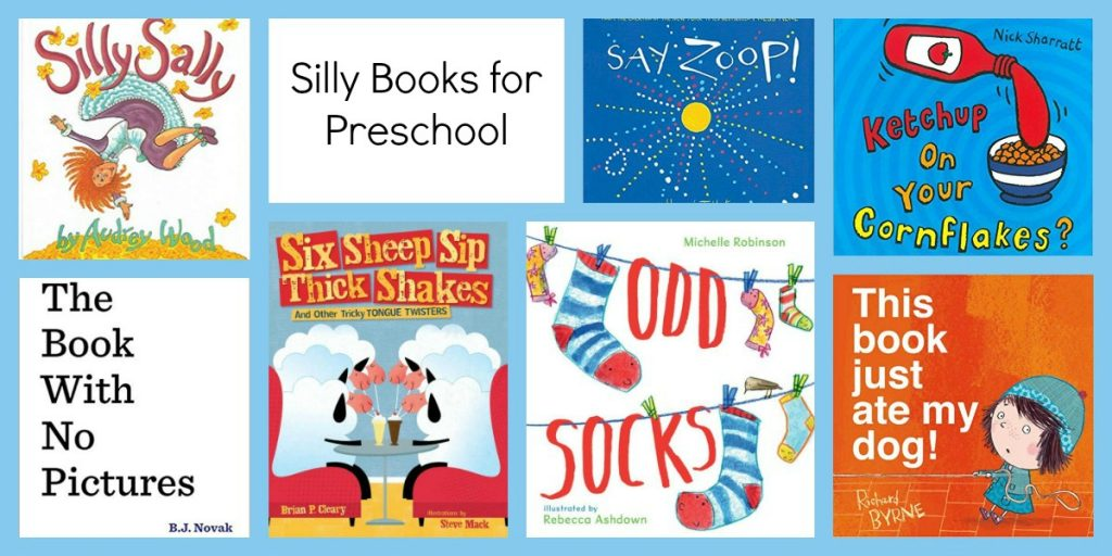 Silly Books for Preschoolers to accompany the Ways to Play Every Day April Activity Calendar