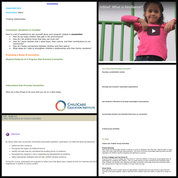 Building Resilience in Preschoolers from CCEI Online for Teachers and Caregivers