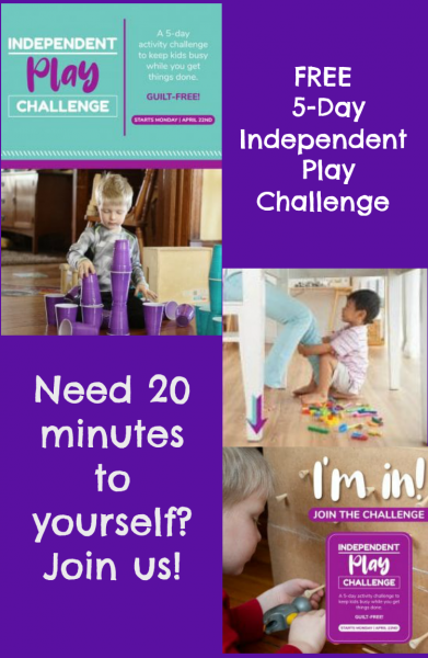 5-Day Independent Play Challenge from Hands On As We Grow