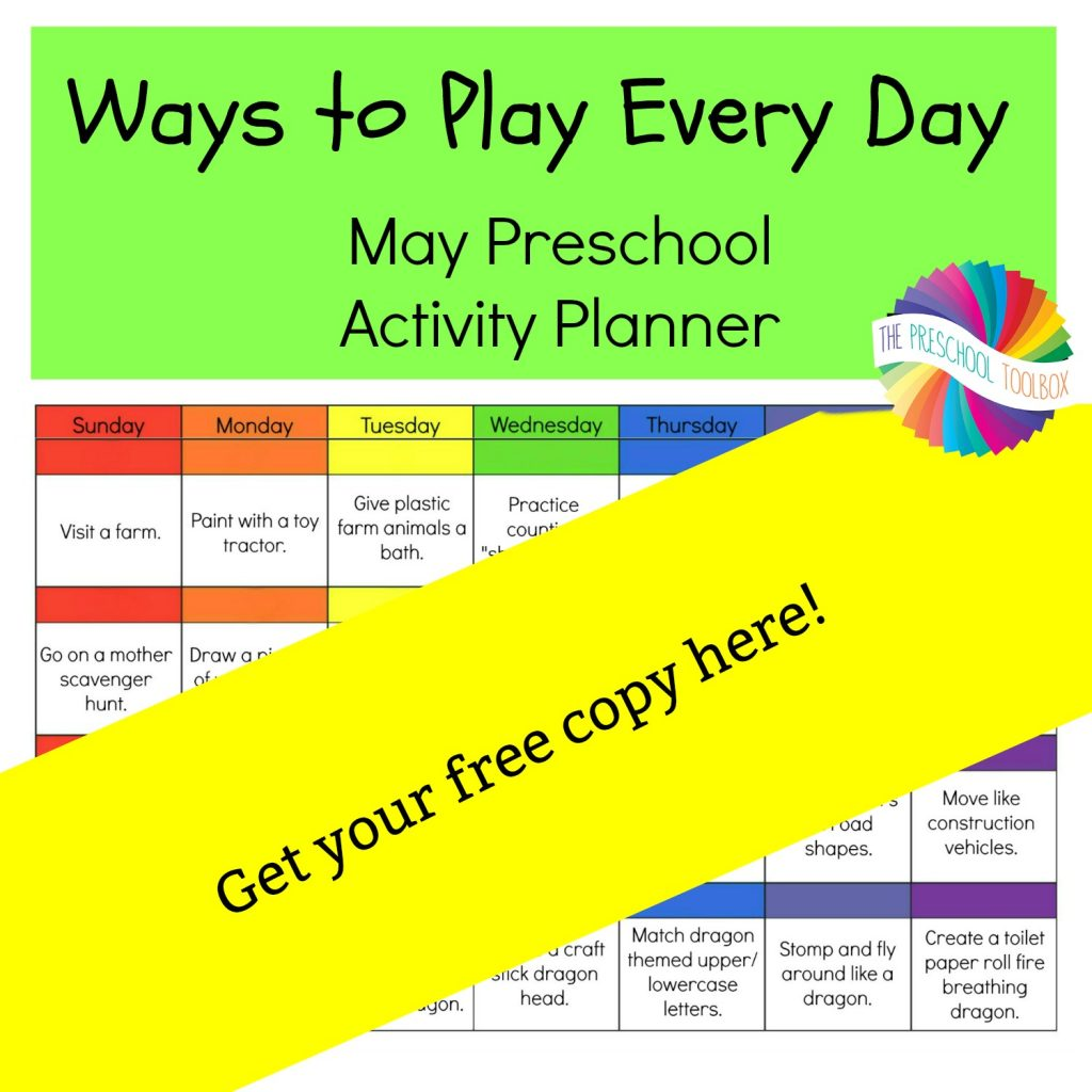 Ways to Play Every Day May Activity Planner for Preschool