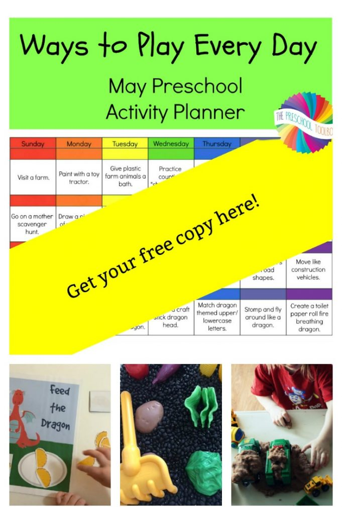 May Activity Calendar and Planner for Preschoolers