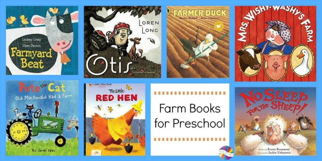 Books for a FARM Theme in Preschool
