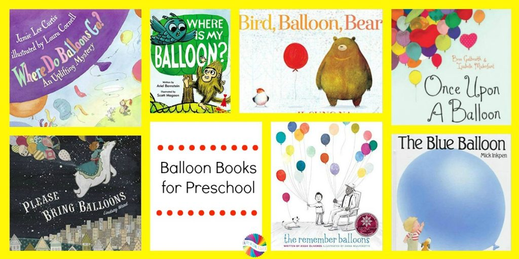 Balloon Books for Preschoolers to accompany the Ways to Play Every Day Free Printable Activity Calendar