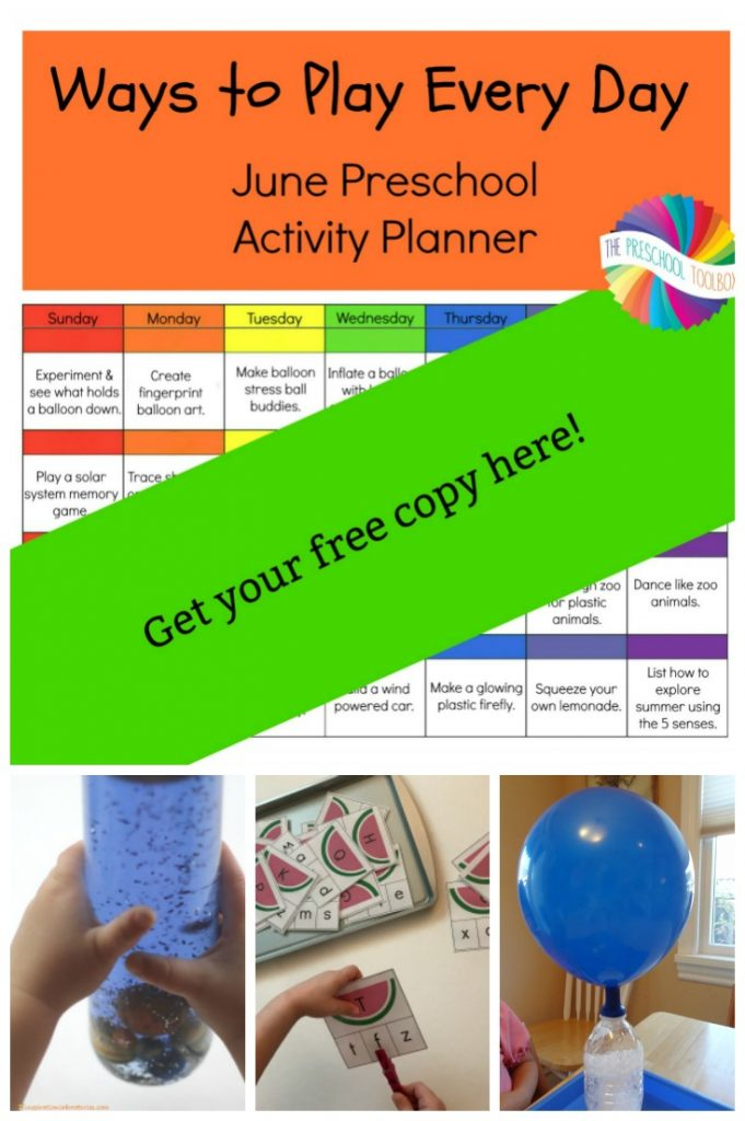 Free Printable June Activity Calendar for Preschoolers
