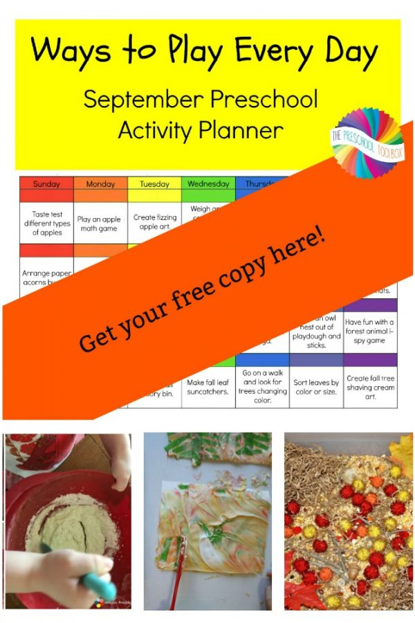 Ways to Play Every Day: September Activity Calendar for Preschoolers