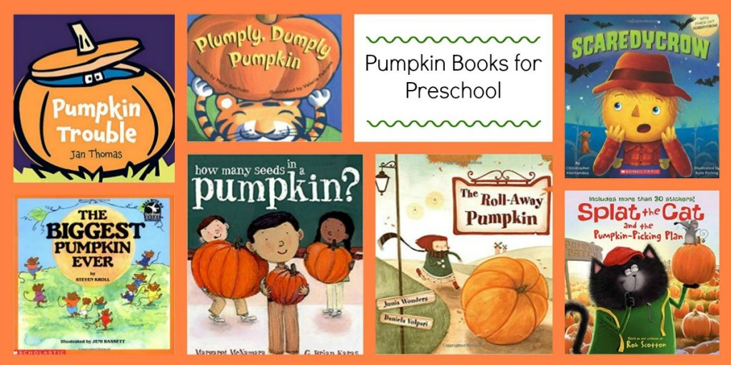 Pumpkin Books for Preschoolers to Accompany WEEK THREE of the Free October Ways to Play Every Day Activity Calendar