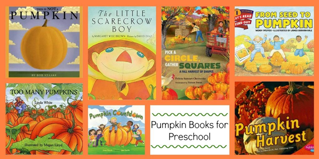 Pumpkin Books for Preschool to Accompany the Ways to Play Every Day Free October Activity Calendar