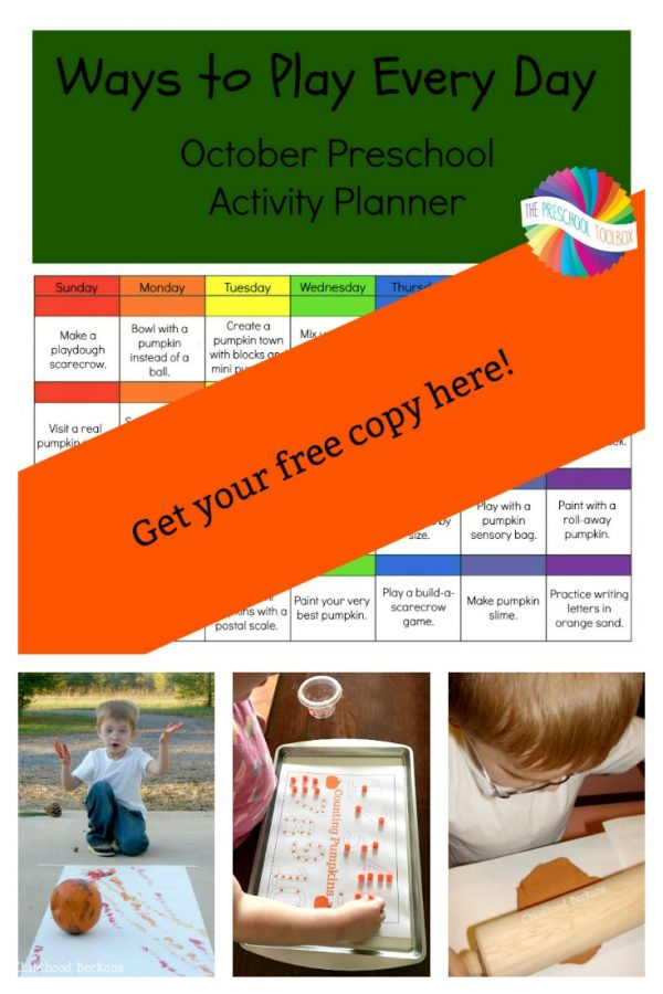 Ways to Play Every Day in October: Preschool Pumpkins Activity Calendar