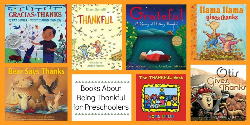 Preschool Books about being Thankful