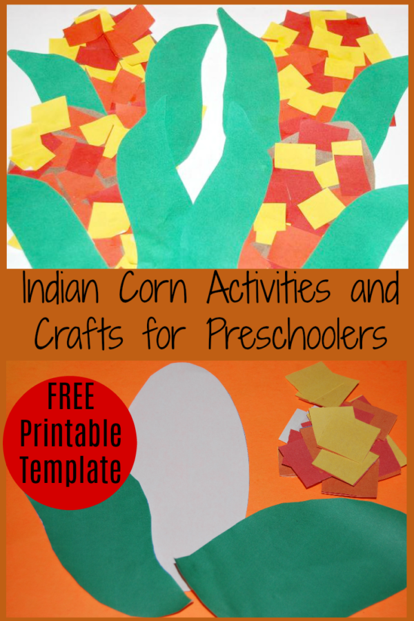 Indian corn (flint corn) activities and crafts for preschoolers