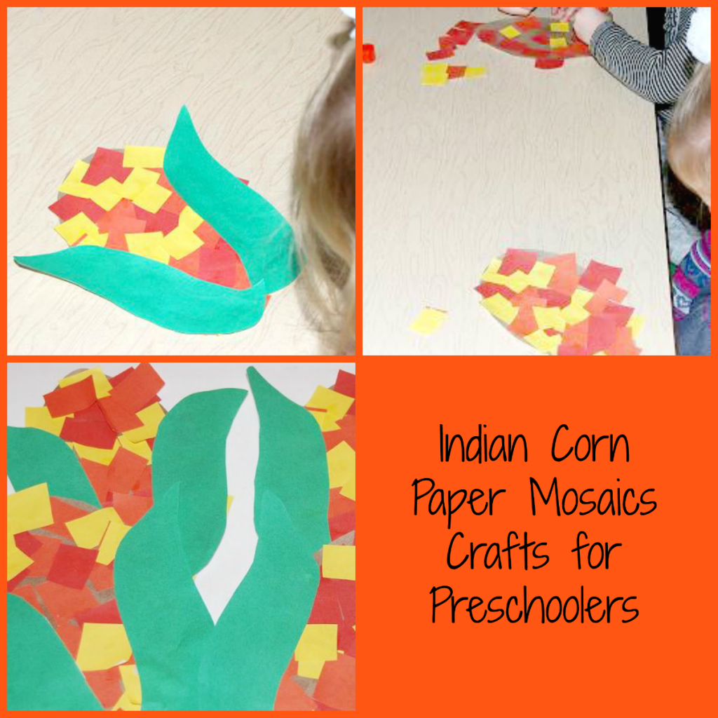 Indian Corn Paper Crafts for Preschoolers