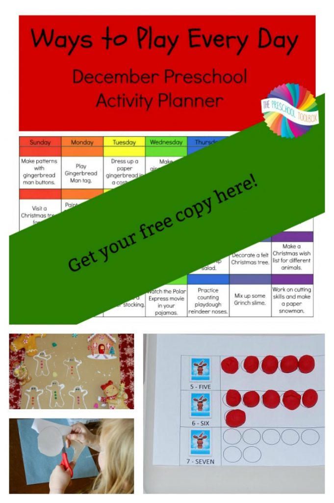 Free December Activity Calendar for Preschool