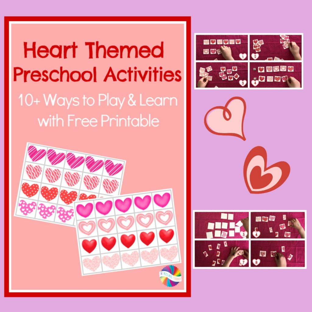 Free Printable Hearts Themed Activities for Preschoolers