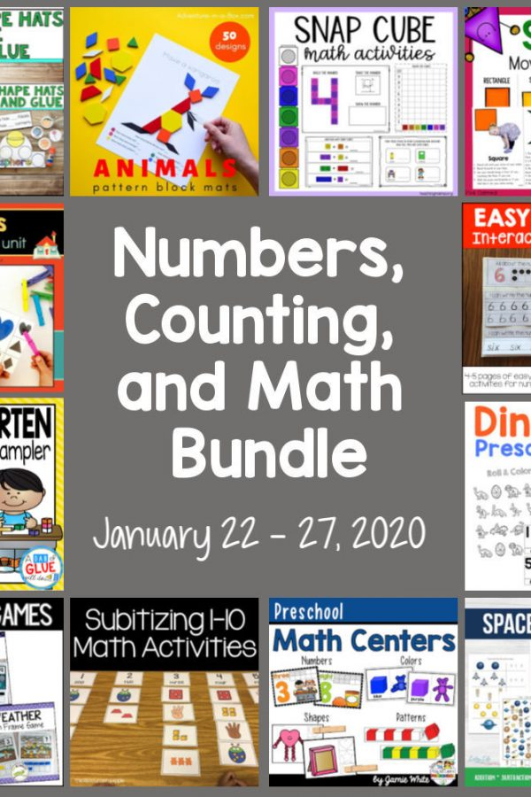 Numbers, Counting, and Math Early Childhood Bundle Sale 2020