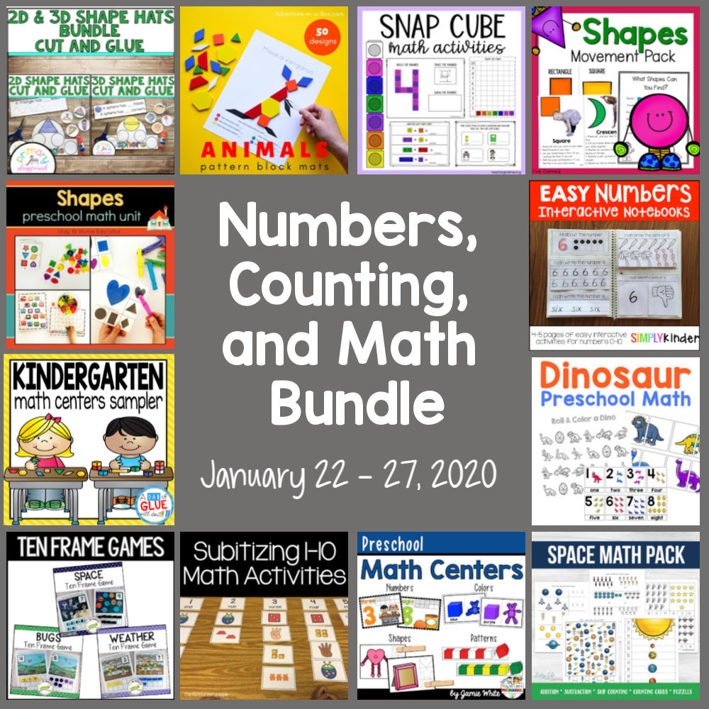 Numbers, Counting, and Math Early Childhood Math Bundle Sale 2020