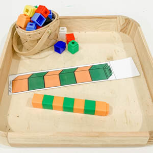 Math Snap Cube Patterns for Preschoolers