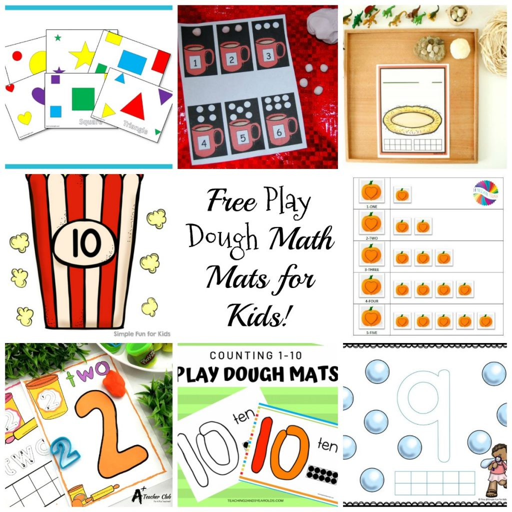 Free Printable Play Dough Math Mats for Kids