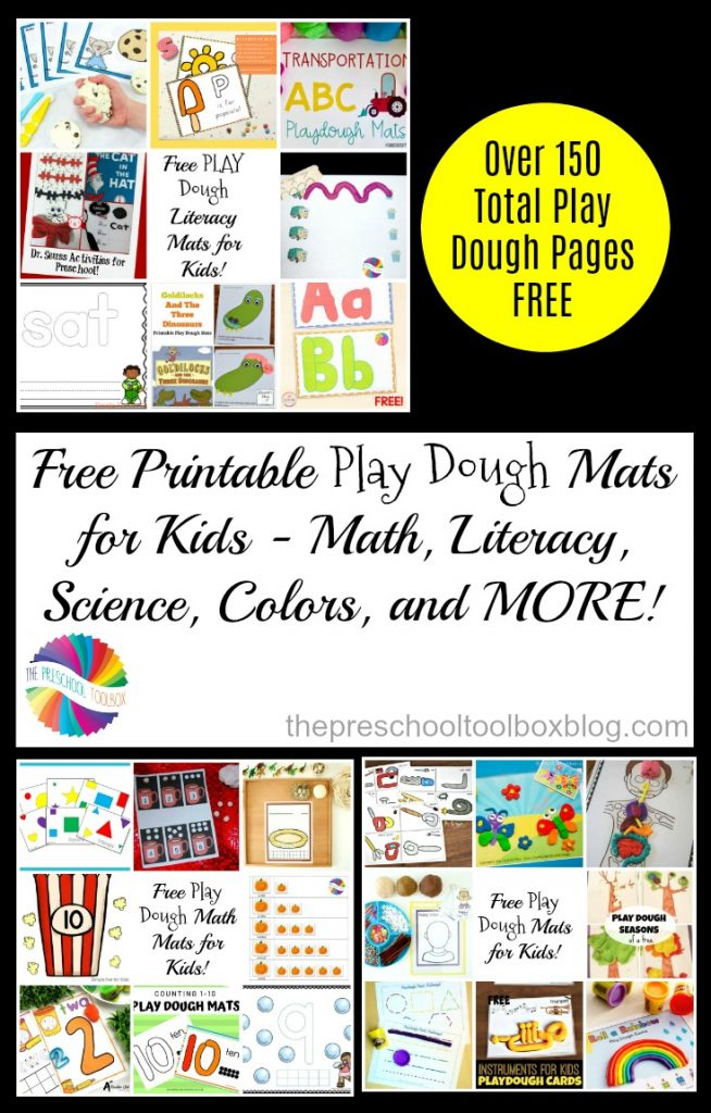 Free Printable Play Dough Mats for Sensory and Hands-on Learning