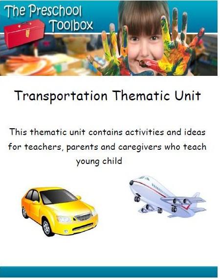 Transportation Theme for Preschool!